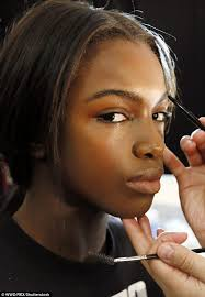 the mode pictured being made up at the rebecca minkoff new york show earlier this