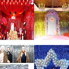 party decorations wedding reception buy tinsel foil fringe window