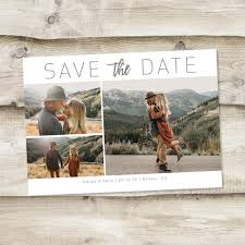 Postcard Collage Template Save The Date Template With Photo Card Photoshop Template Photographers Wedding Photography Psd Rustic Postcard Photo Collage Save The Date