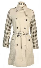 authentic burberry bespoke beige kensington studded trench coat size 6