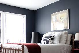 A Bedroom With Black Walls. Source: Design Sponge