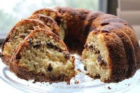 When making the above sour cream coffee cake recipe for gifts or a bake sale, wrap it in cellophane paper instead of plastic wrap for a more professional look. Chocolate Chip Sour Cream Coffee Cake Recipe