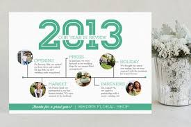 Looking Back Timeline Business Holiday Cards By Vanessa