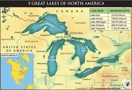 Lake Ontario Chart How Deep Are The 5 Great Lakes Of North America Answers