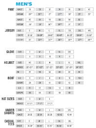 Youth Dirt Bike Glove Size Chart Size Chart