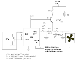 circuit makes pwm fan drive linear temperature change ee times figure 2 this circuit improves the standard approach of figure 1 by including a low pass filter that converts the pwm output of ic1 to a dc power supply