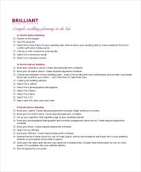 8 Wedding To Do List Free Sample Example Format Free