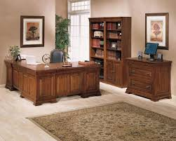 wood home office desks. Modular Desks Home Office : Classic Furniture Idea With Brown Wooden Desk And Cabinet Wood U