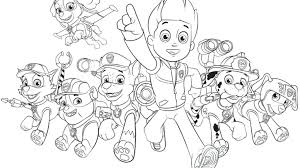 Coloring Pages Paw Patrol Chase Page Free Printable Marshall Sheets