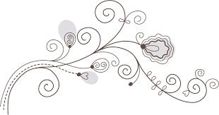 花のイラストフリー素材白黒モノクロno019白黒かわいい絵6