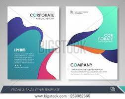 Design Brochure Template Front Back Page Vector Photo Free Trial Bigstock