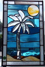 palm tree stained glass pattern how can you make simple stained glass patterns look beautiful house decorating designs