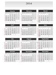 Calendar 2013 Through 2015 Simple Calendar 2014 For Powerpoint