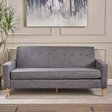 Sawyer Mid Century Modern 3-seater Fabric Sofa by Christopher Knight Home -  Free Shipping Today - Overstock.com - 24276413