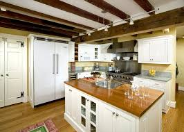 lighting for beams. Lighting Exposed Beams Kitchen Traditional With Shaker Cabinets Glass Front For 0