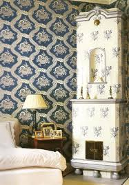 ... Engaging Home Interior Wall Decor With Scandinavian Wallpaper Design :  Cool Picture Of Vintage Bedroom Decoration ...