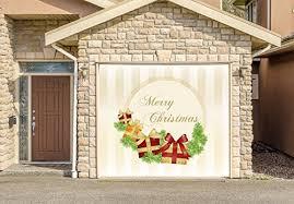 decor banner single car garage door murals covers outdoor home decor door cover billboard full