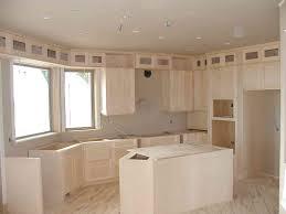 unfinished shaker kitchen cabinets. Unfinished Shaker Kitchen Cabinets Stainless Steel Undermount Sink Blue Glass Mosaic Backsplash Modern Tile Texture White Dining Table : Home B