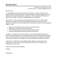 Gallery Of Best Field Technician Cover Letter Examples Livecareer