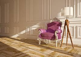 classic interior arm chair floor lamp wall panels