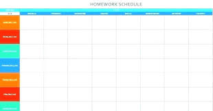 Schedule Word Work Schedule Template