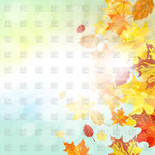 autumn frame with falling maple leaves on sky background vector image vector ilration of backgrounds to zoom
