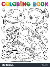 Coral Reef Coloring Page Beautiful Cod Coloring Pages Coral Reef