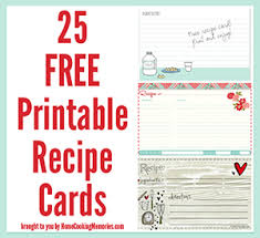 Index Card Recipe Template 25 Free Printable Recipe Cards Home Cooking Memories