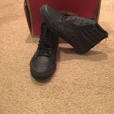 vans sk8 hi slim zip womens perf leather black black shoes size 6 vn000xh8gka for