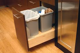 under kitchen sink pull out storage gallop capture double waste bin cabinet from dura supreme cabinetry