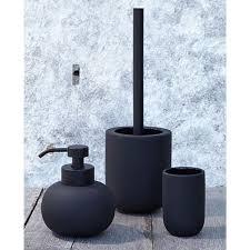 METTE DITMER Yin Yang Toilet Brush Holder Black Concrete With Black Handle.  Soap HolderToilet BrushScandinavian Bathroom AccessoriesBath ...