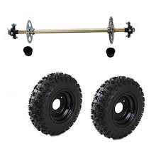 go kart rear axle kit complete wheel hub set with tires off road kids kart parts
