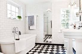 bathroom tiles black and white. Simple Black Black And White Tile Bathroom Ideas In Tiles And