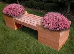 garden bench planter box. garden bench planter box b