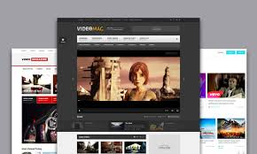 website template video html templates for video tube video sharing and video portals