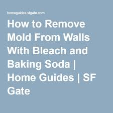 walls with bleach and baking soda