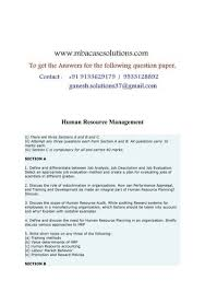 human resource management define and