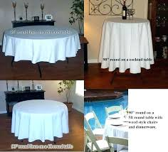round tablecloth 90 inch white inch polyester