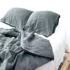 flax linen duvet cover queen real set bedding king bed sheet west elm belgian sham
