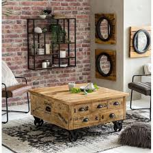 storage coffee table trunk rustic