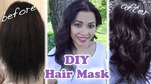 diy hair mask for very damaged dry frizzy hair and faster hair growth you