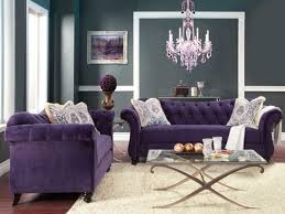 transitional living room furniture. Antoinette Crystal Button Tufted Transitional Purple Sofa Set Living Room Furniture
