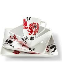 black dinnerware sets. Contemporary Black Coventry Riley Dinnerware Set WhiteRedBlack To Black Sets R