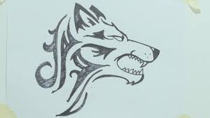 wolf face drawing tribal. Plain Wolf Throughout Wolf Face Drawing Tribal I