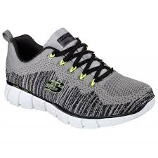 skechers memory foam mens. skechers mens perfect game relaxed fit light grey and black lace up trainer shoe with lime. \u2039 memory foam