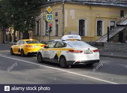 Yandex taxi on the streets of Moscow. The best value for money solution in  Russia Stock Photo - Alamy