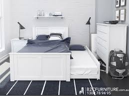 bedroom side view. Side View Of White King Single Size Bed Frame With Trundle Modern Timber Childrens Kids Beds Bedroom