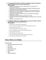 resume restaurant job descriptions contegri com
