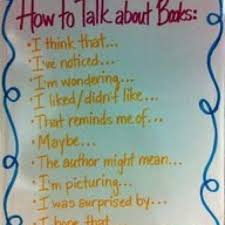 Book Talk Anchor Chart How To Talk About Books Wonderful Book Talk Discussion