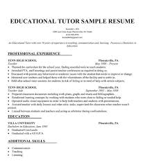 Educational Tutor Resume Sample Resumecompanion Com Resume